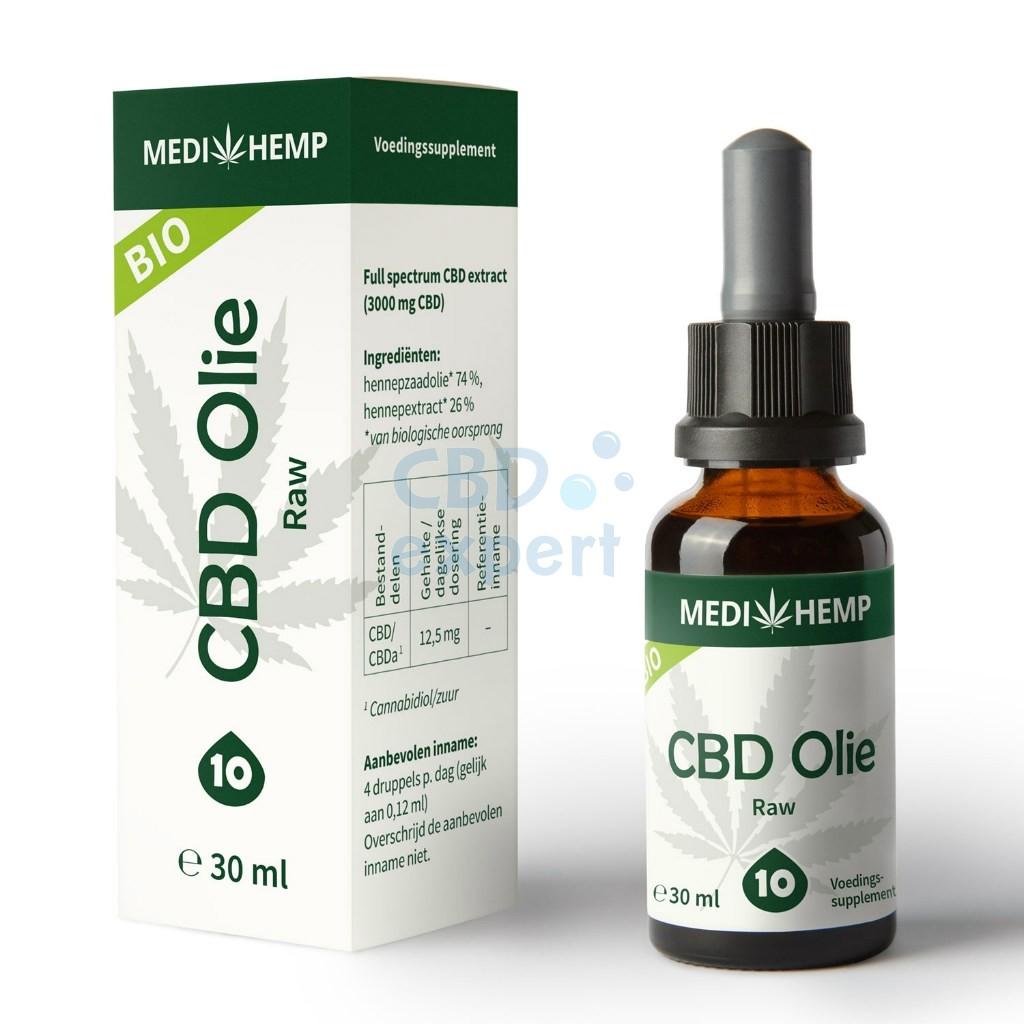 CBD Olie Raw (Medihemp) 10% CBD