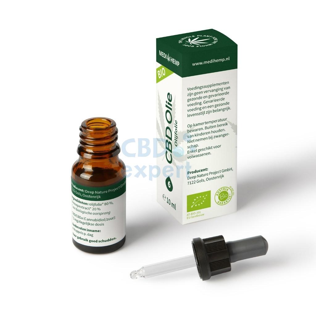 CBD Olie Olijfolie (Medihemp) 6% ~600mg 10ml