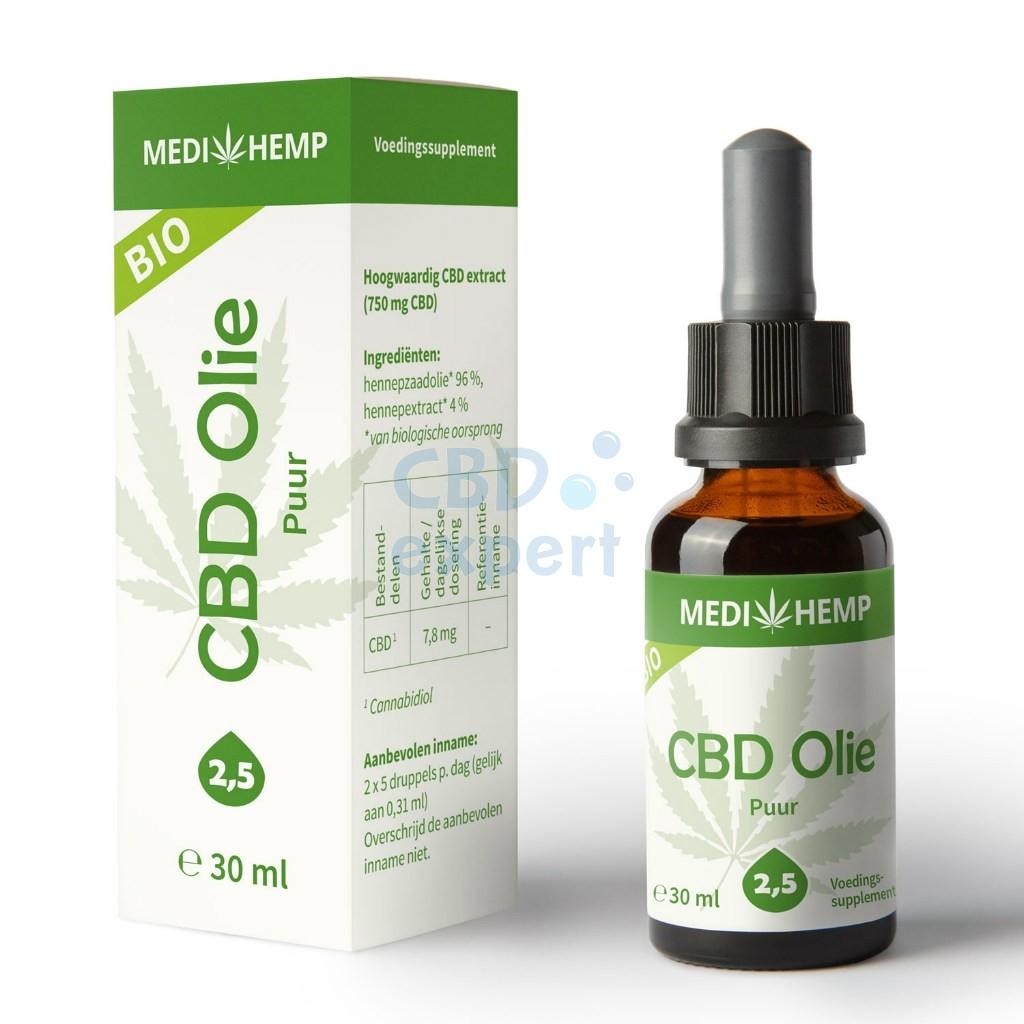 CBD Olie Puur (Medihemp) 2,5%