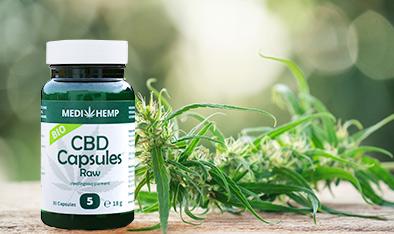 Medihemp 5% Raw CBD Capsules