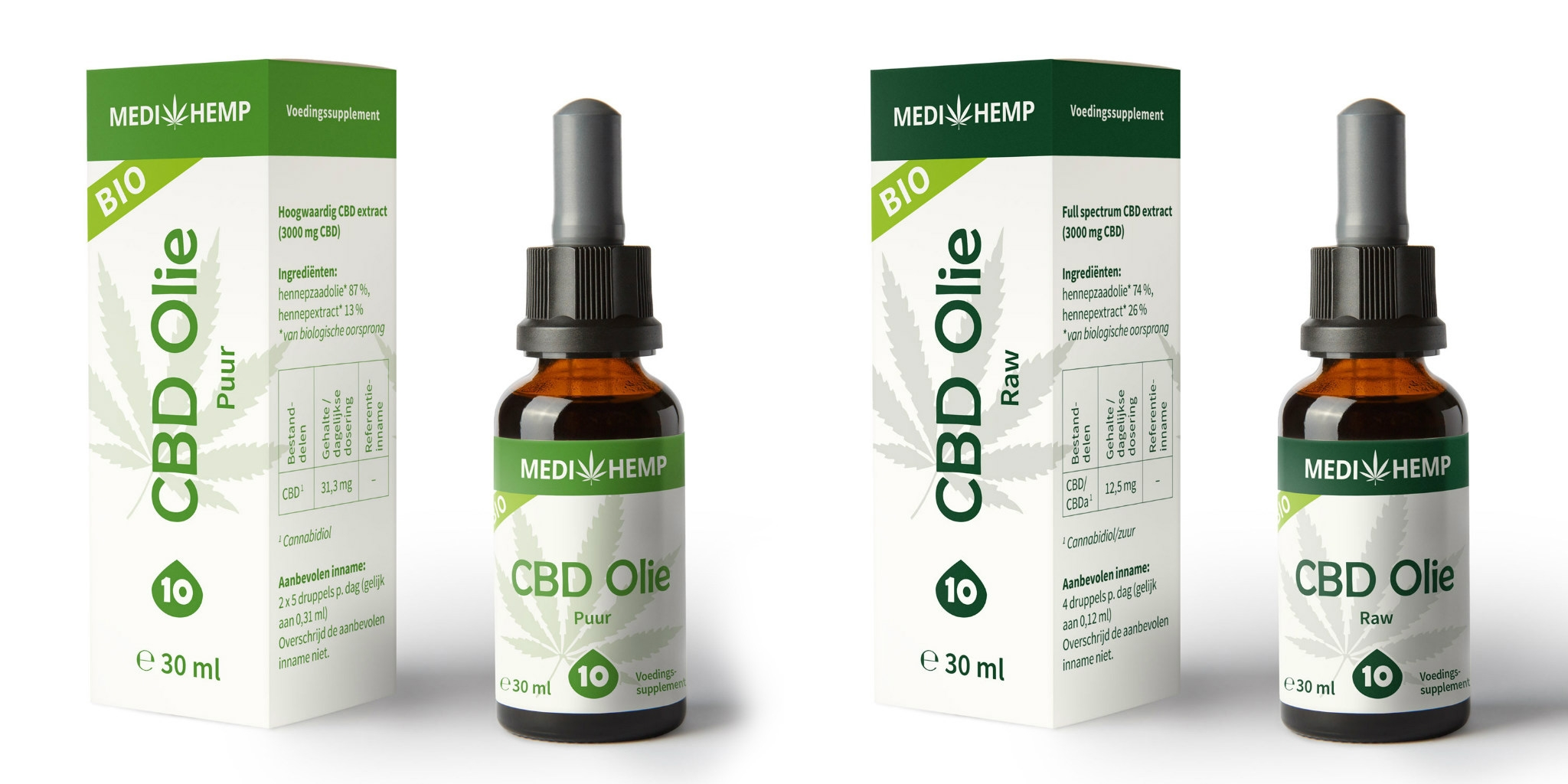 biologische CBD olie van medihemp - puur en raw